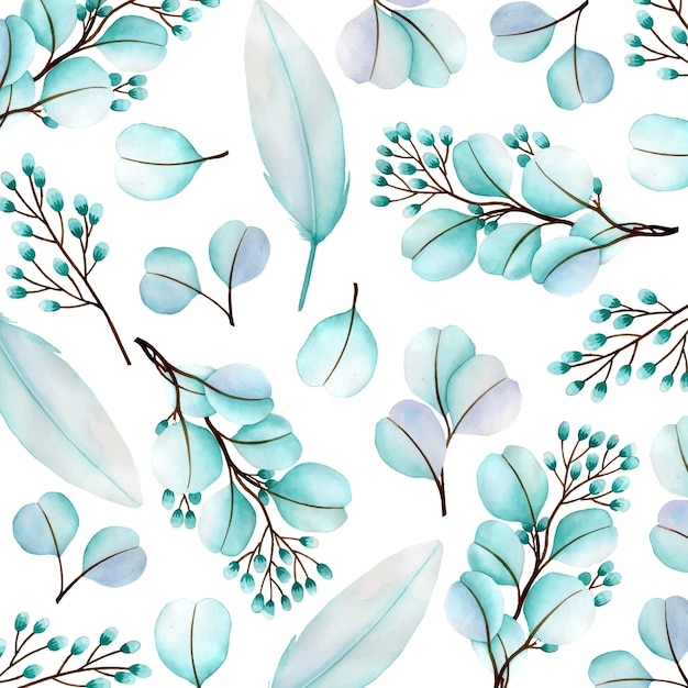 Prachtige aquarel bloemenpatroon achtergrond Premium Vector