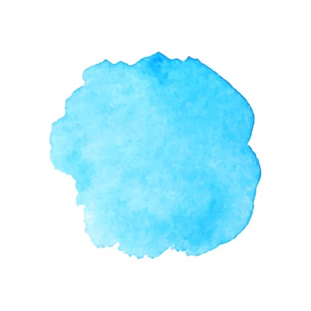 Prachtige blauwe aquarel splash Gratis Vector