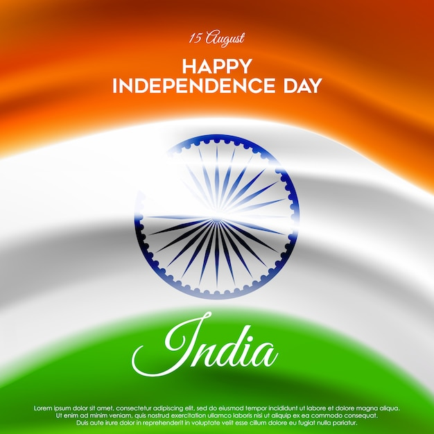 Prachtige indiase onafhankelijkheidsdag Premium Vector