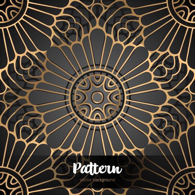 Prachtige islamitische naadloze bloemmotief. Premium Vector