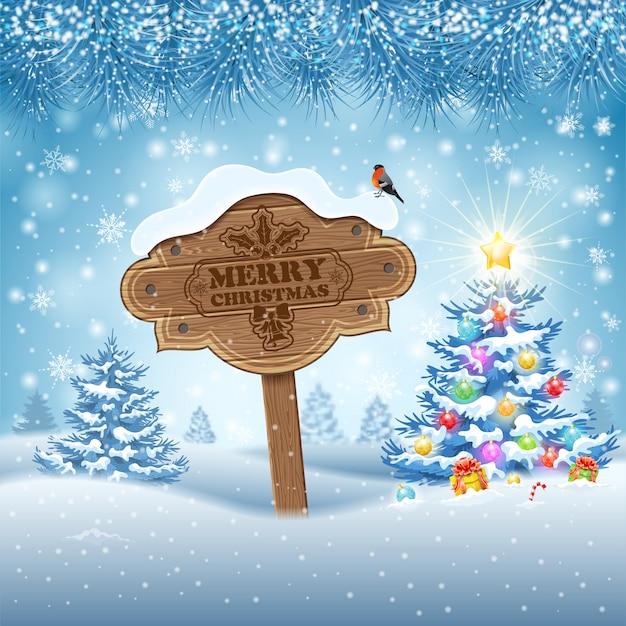 Prachtige kerst achtergrond Premium Vector