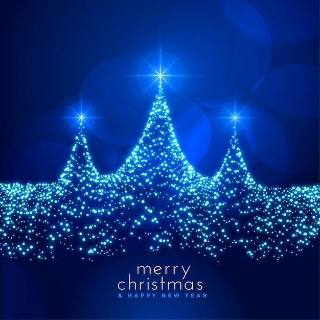 Prachtige kerst festival kaart met sparkle kaart Gratis Vector