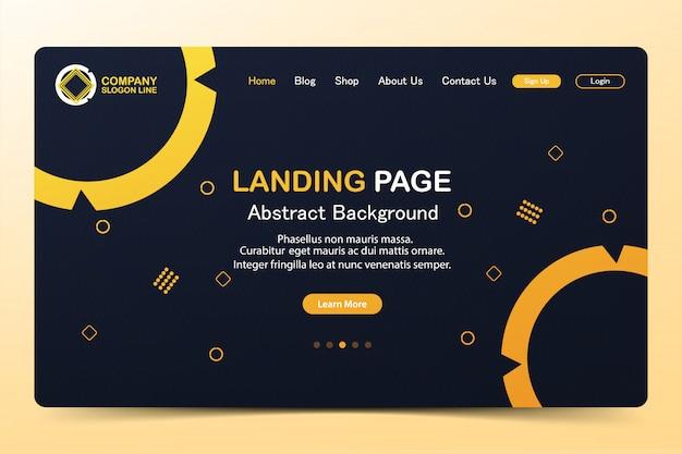 Prachtige landingspagina abstract website vector sjabloonontwerp Premium Vector