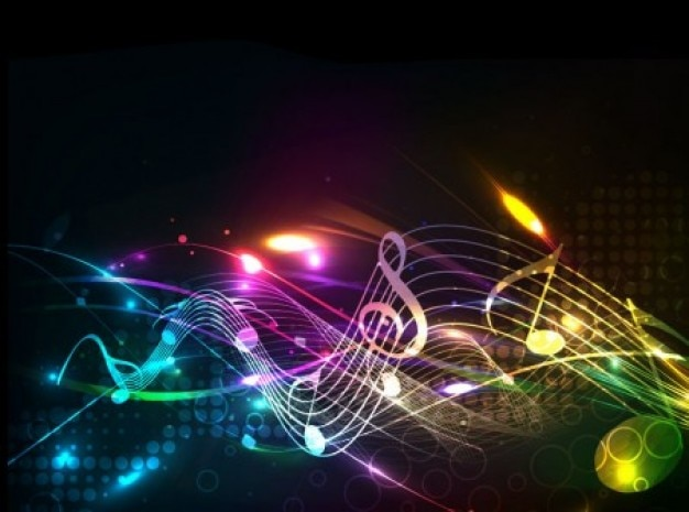 8589130490590 Rainbow Music Notes Wallpaper Hd Jpg: Prachtige Muziek Noten Lijnen Achtergrond Vector Set