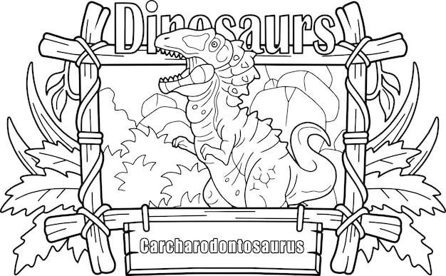 Prehistorische dinosaurus Premium Vector