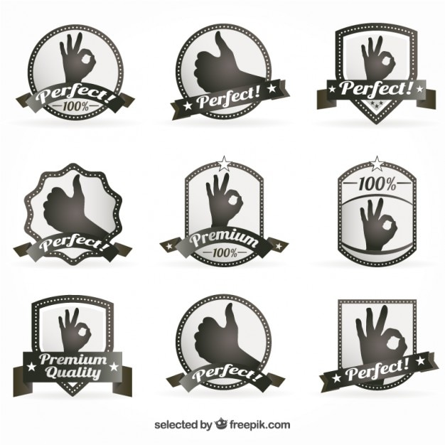 Premium badges Gratis Vector