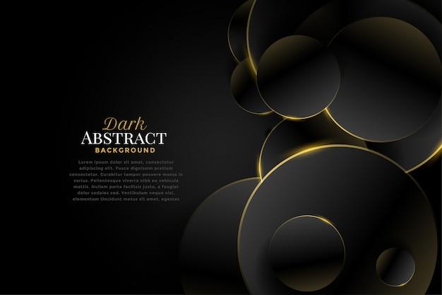 Premium donkere cirkels met gouden randen Gratis Vector