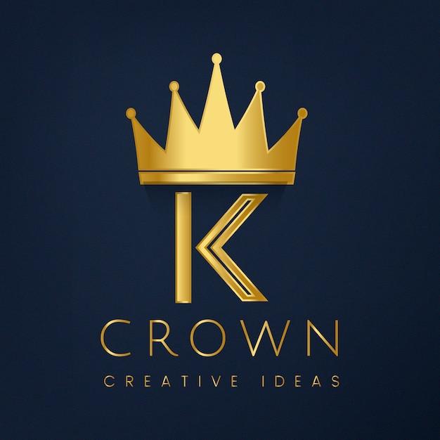 Premium k-kroon merk vector Gratis Vector