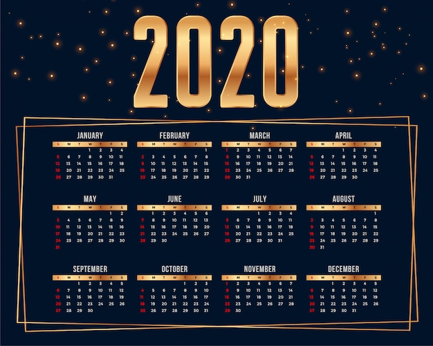 Premium kalender ontwerpsjabloon Gratis Vector