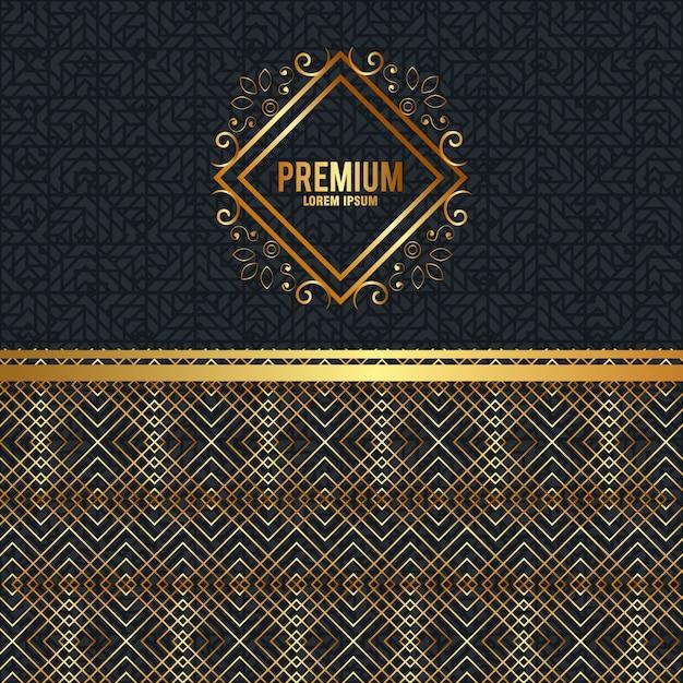 Premium kwaliteit gouden frame Gratis Vector