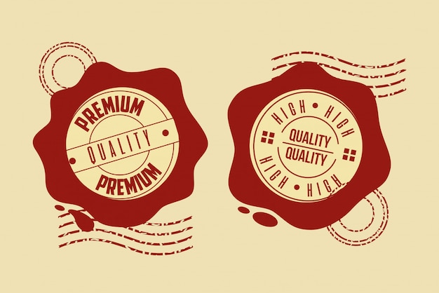 Premium kwaliteit stempel set Gratis Vector