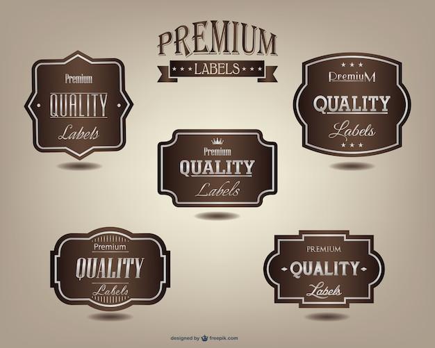 Premium labels set Gratis Vector