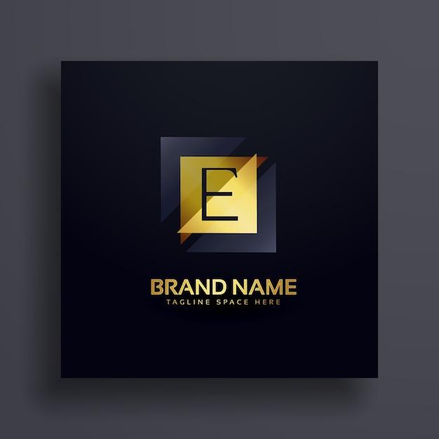 Premium letter e concept logo ontwerp Gratis Vector