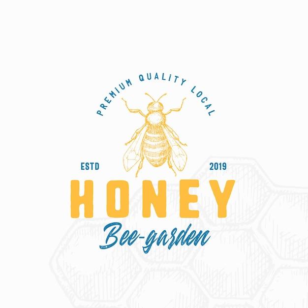 Premium lokale honing logo sjabloon. Premium Vector