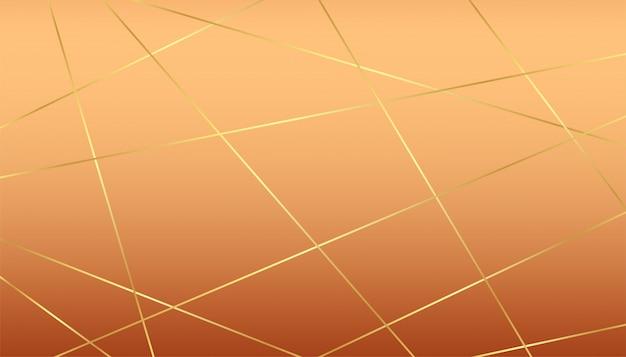 Premium luxe achtergrond met gouden lijnen en pastel achtergrond Gratis Vector