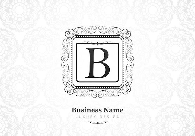 Premium luxe letter b-logo voor bedrijf Gratis Vector