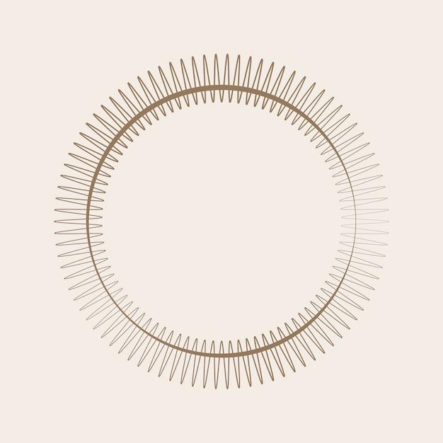 Premium ornament rond ontwerp Gratis Vector