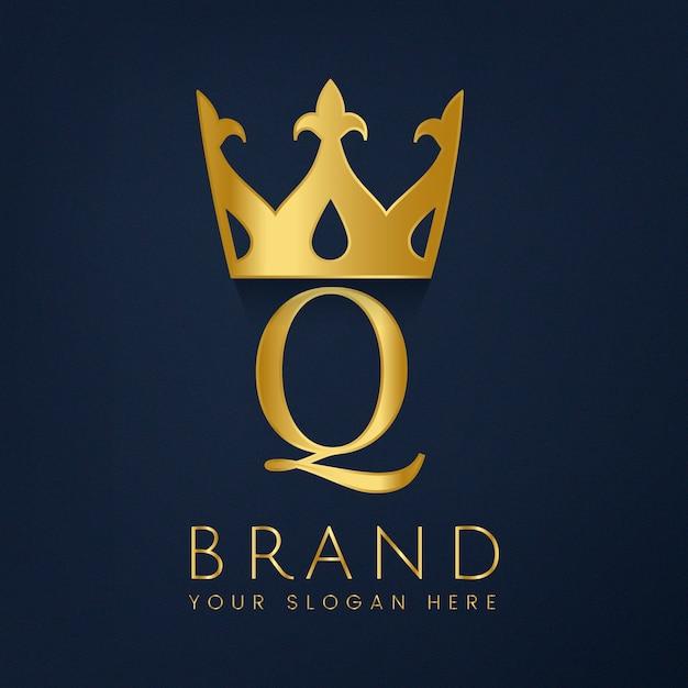 Premium q-merk creatieve vector Gratis Vector