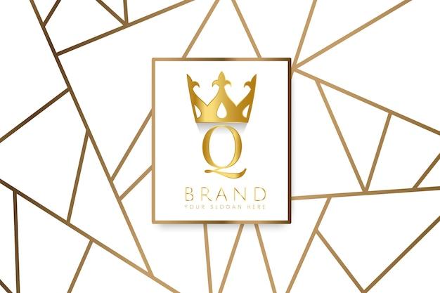Premium q-merkontwerpvector Gratis Vector