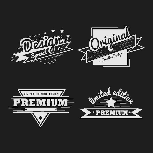 Premiumkwaliteit badge vector set Gratis Vector