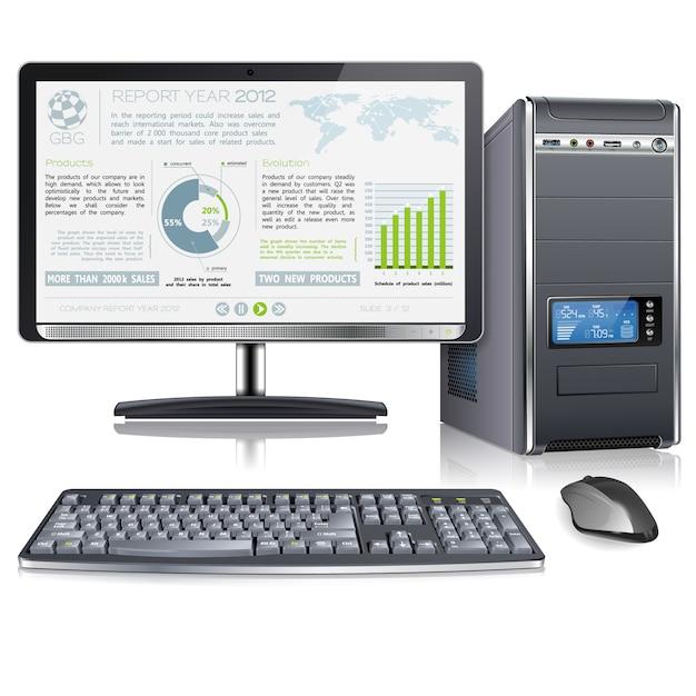 Presentatie bedrijfsjaarverslag Premium Vector