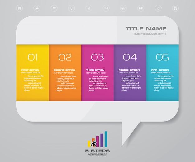 Presentatie grafiek infographic element. Premium Vector