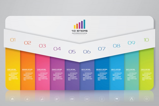 Presentatie grafiek infographic element Premium Vector