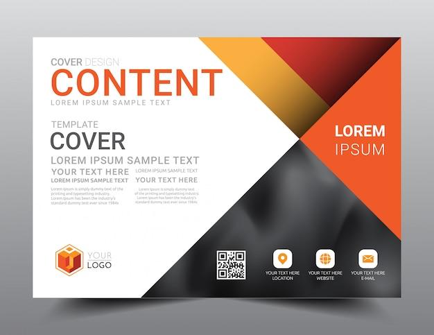 Presentatie lay-out ontwerpsjabloon. Premium Vector