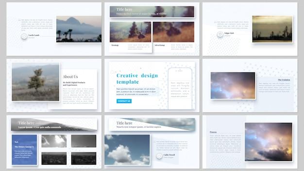 Presentatie slides zakelijke sjablonen Premium Vector