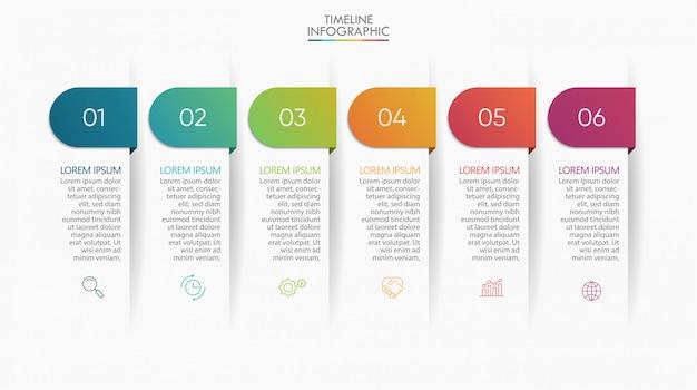Presentatie zakelijke infographic sjabloon. Premium Vector