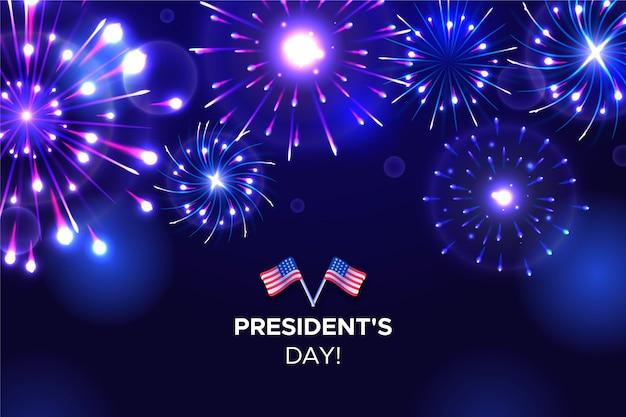 President's day fireworks wallpaper Gratis Vector