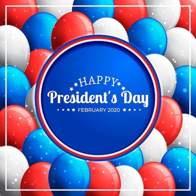 President's day kleurrijke ballonnen Gratis Vector