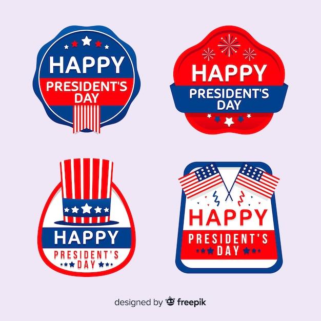 President's day labelverzameling Gratis Vector