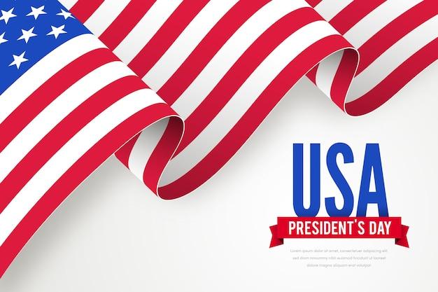 President's day promo met vlag Gratis Vector