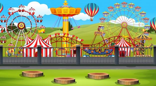 Pretpark scene Gratis Vector
