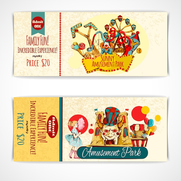 Pretpark-tickets Gratis Vector