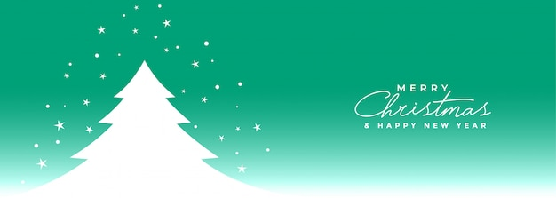 Prettige kerstdagen en gelukkig nieuwjaar banner Gratis Vector