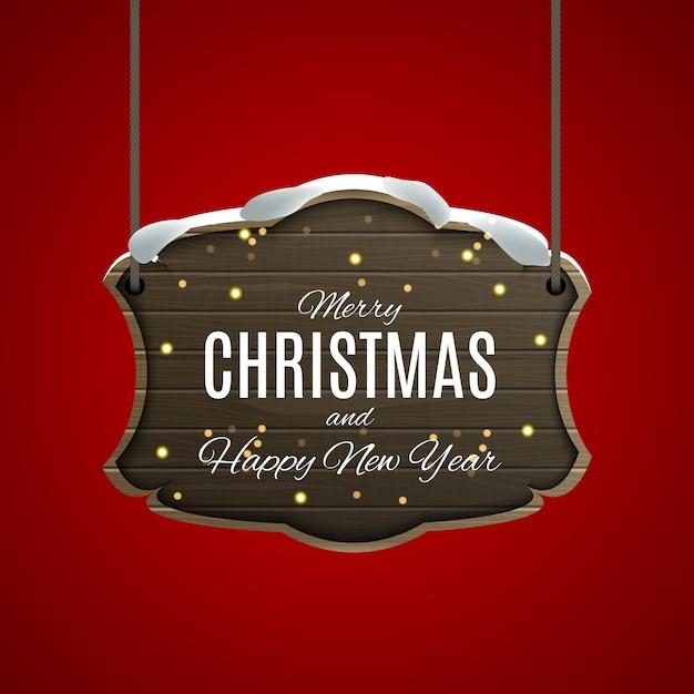 Prettige kerstdagen en gelukkig nieuwjaar posters. Premium Vector