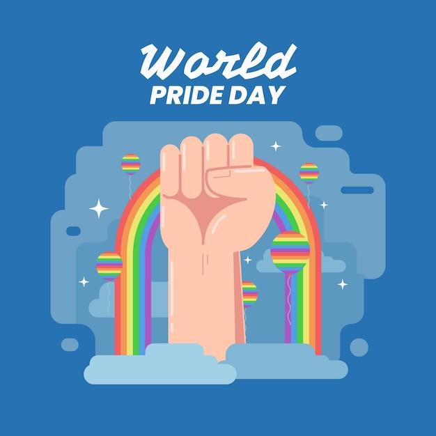 Pride day viering concept Gratis Vector