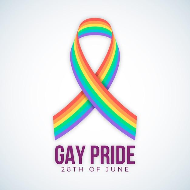 Pride day vlag met regenboogkleuren Gratis Vector