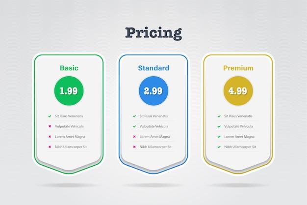 Prijslijstsjabloon Premium Vector