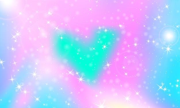 Princess achtergrond. zeemeermin regenboog. unicorn patroon. Premium Vector