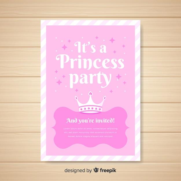 Princess feestuitnodiging Gratis Vector