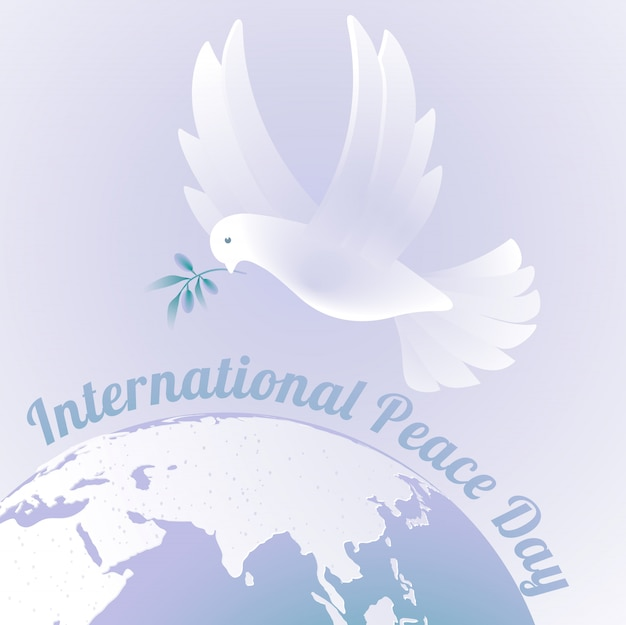 Print internationale vredesdag Premium Vector