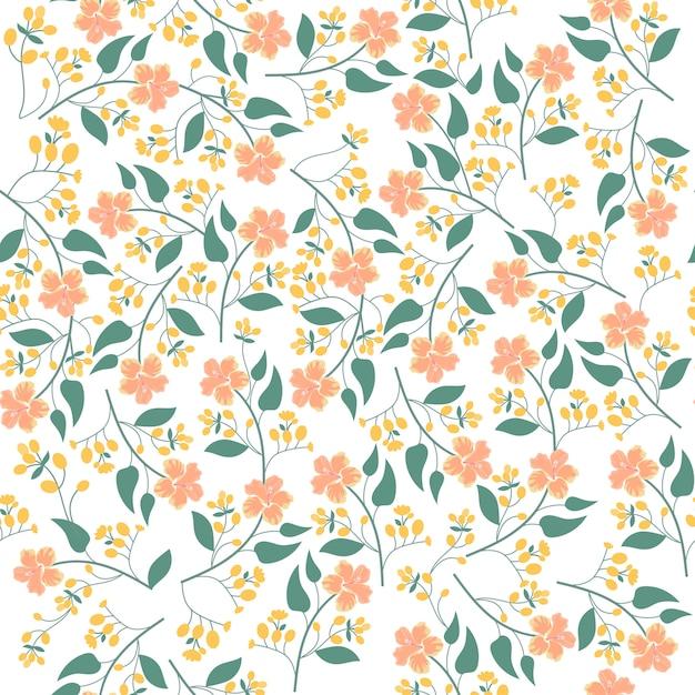 Print oranje bloem Premium Vector
