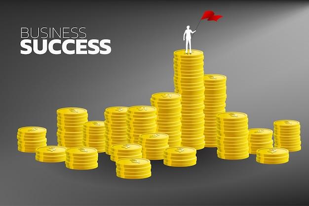 Print silhouet van zakenman Premium Vector