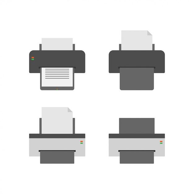 Printer grafisch ontwerpsjabloon vectorillustratie Premium Vector