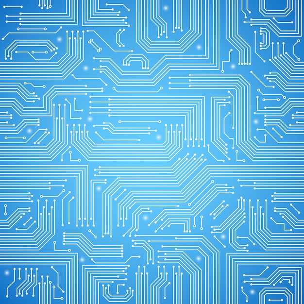 Printplaat naadloze patroon Gratis Vector