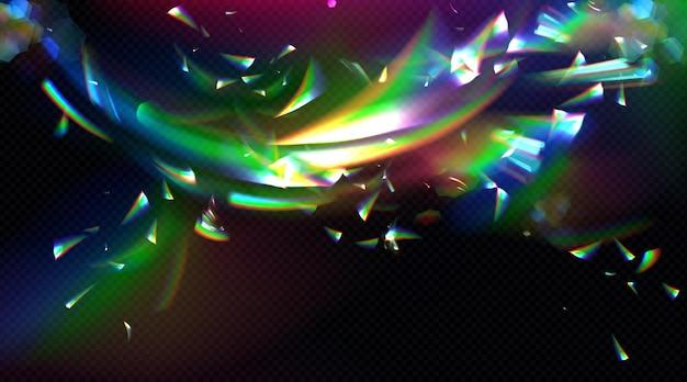 Prisma flare reflectie achtergrond Gratis Vector