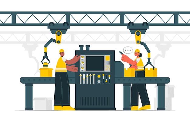 Productieproces concept illustratie Gratis Vector